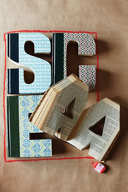 Library Letters #anthrofave #anthropologie #home #decor #personalized #gift