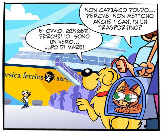 Vita di bordo | Fumetti Gli Inseparabili Friskies (cani, gatti, conigli, animali)