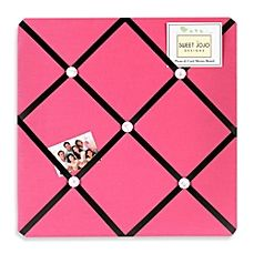 image of Sweet Jojo Designs Soccer Fabric Memo Board in Pink