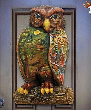Woodsy Night Owl Door Hanger