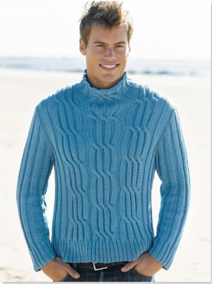 Mens Cabled Turtleneck in Tahki Yarns Cotton Classic. Discover more Patterns by Tahki Yarns at LoveKnitting. We stock patterns, yarn, needles and books from all of your favorite brands.