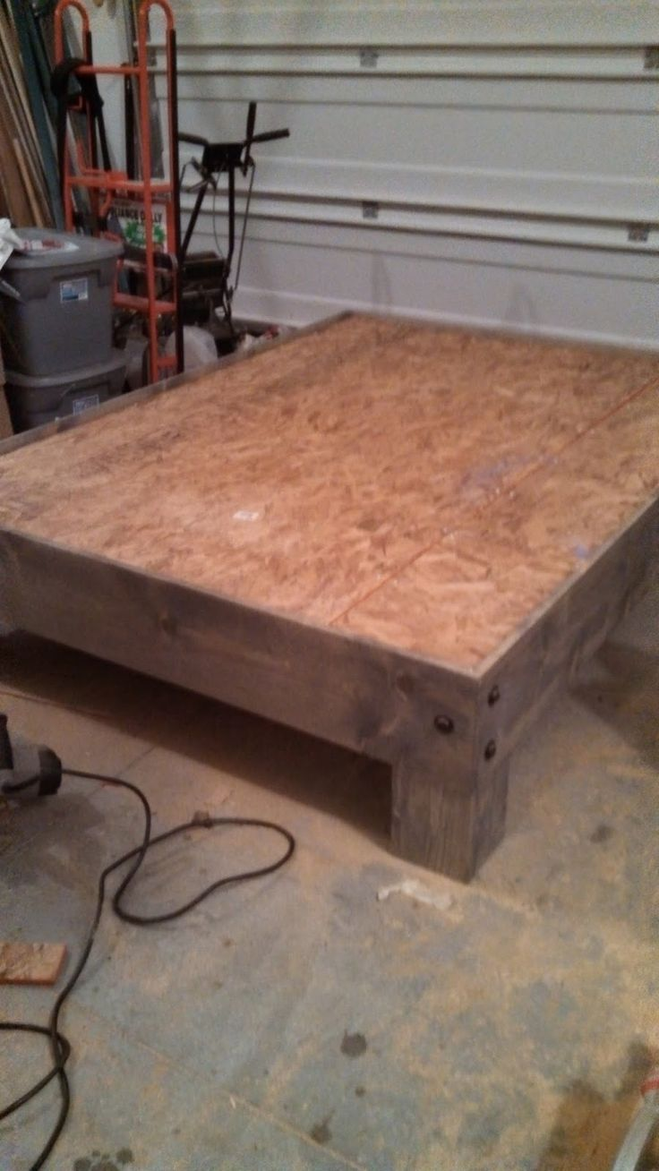 diy platform bed u0026 salvaged door headboard part three