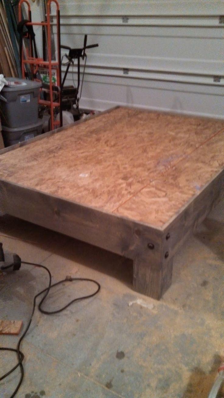 best 25 pallet platform bed ideas on pinterest diy bed frame bed ideas and king platform bed - How Much Is A Bed Frame