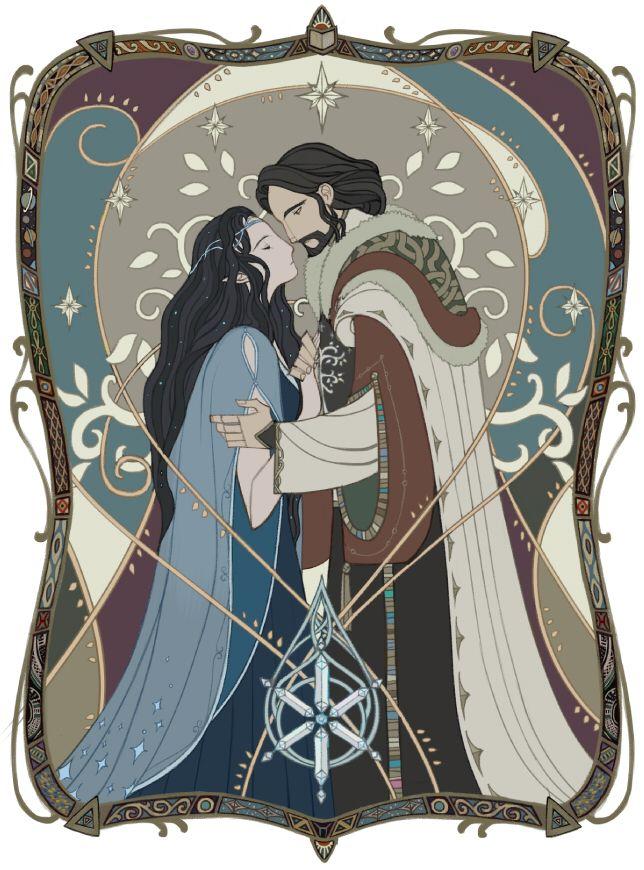 Aragorn & Arwen by Wavesheep