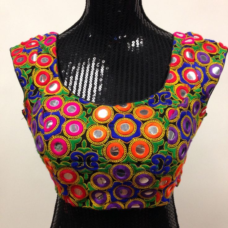Kutchi Embroidery Designer Blouse - Multicolor - 1