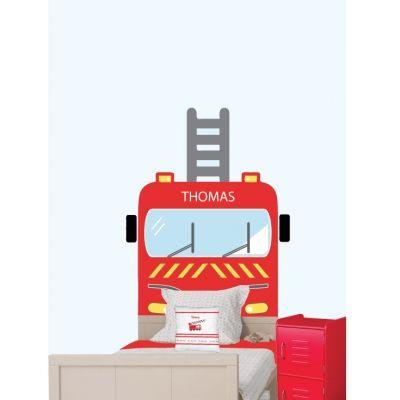 sticker_tête_de_lit_camion_de_pompier_personnalisable-1
