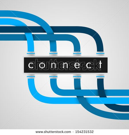 Connect | EPS10 Vector - stock vector