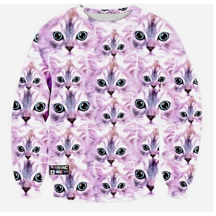 sweater 3d - pink kittens