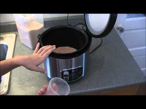 aroma rice cooker instructions brown rice