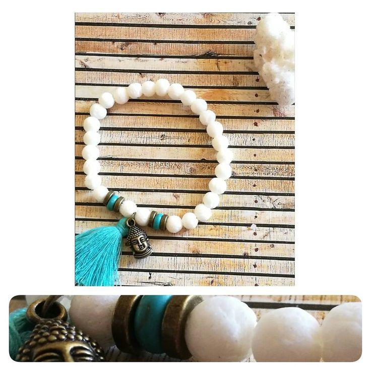 "15 Me gusta, 1 comentarios - Yantra Yewelry (@yantra_jewelry) en Instagram: ""Brazalete / Pulsera / Coral blanco / Turquesa / Buda  #yantra_jewelry #bohostyle #coral #turquesa…"""