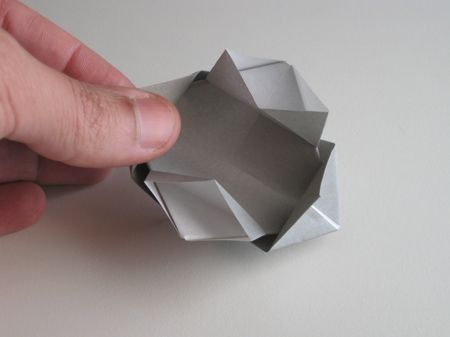 another origami camera made from photo paper unfolding and