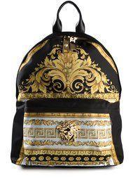 Comprar Versace mochila con estampado barroco.