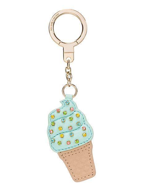 ice cream cone keychain - kate spade new york