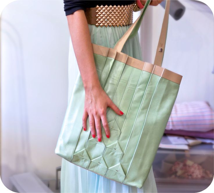 Mint leather bag by Twofold Concept http://www.budapestwithus.hu/heinrich-alkotoi-szint/