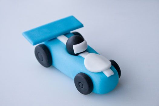 How to make a race car cake topper on http://cakejournal.com/tutorials/how-to-make-a-race-car-cake-topper/