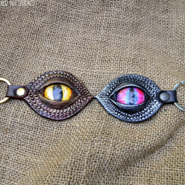 Dragon evil eye key fobs, getting ready for Halloween