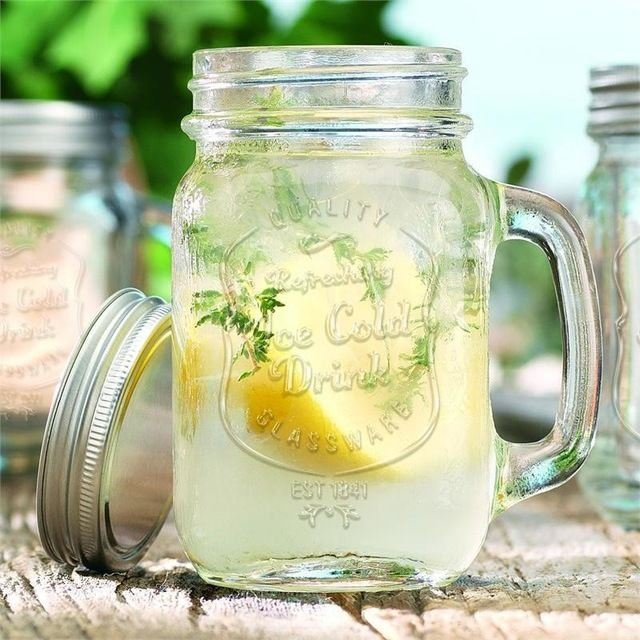 Ice Cold Mason Jar Drinking Glasses
