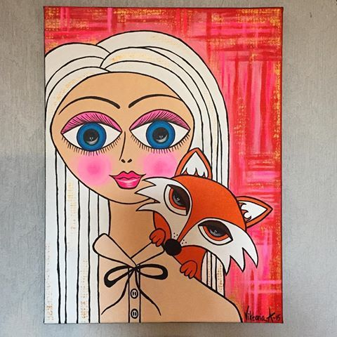 #tavla #måla #konst #akryl #inredning #design #home #style #fox #color #drawing #paint #painting #picture #acrylic #art #myart #artwork #instaart