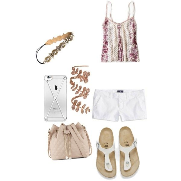 A fashion look from January 2015 featuring American Eagle Outfitters tops, American Eagle Outfitters shorts and Birkenstock sandals. Browse and shop related lo…