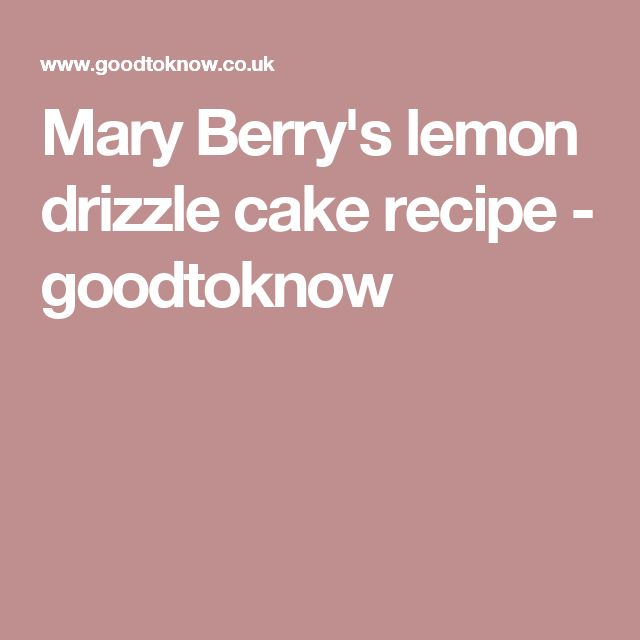 Mary Berry Lemon Drizzle Fairy Cakes