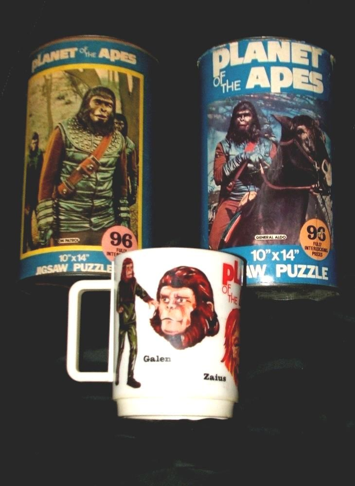 Planet Of The Apes #vintage Toy Lot Can Puzzle X 2 Cup Mug 60's 70's from $29.99