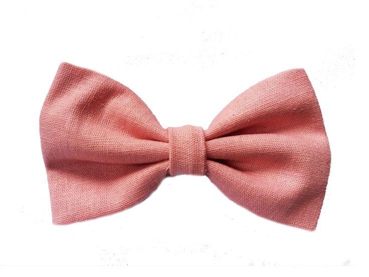 Gravata Borboleta de Linho Rosa Antigo #casamento #noiva #gravata