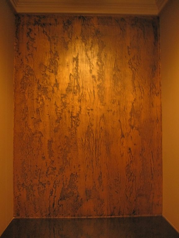 Pictures of textured painted walls with copper glaze for What is faux painting