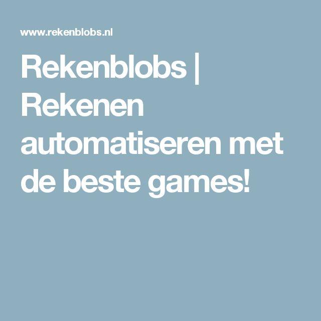 Rekenblobs | Rekenen automatiseren met de beste games!