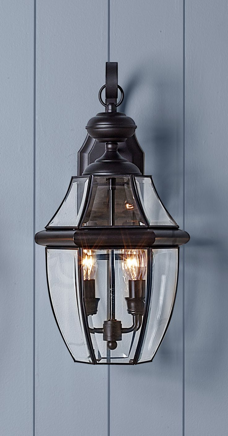 The best sconces are generally made of brass with hand-applied lacquered finishes and intricate art glass. Lancaster 2-Light Wall Lantern, about $270; seagulllighting.com