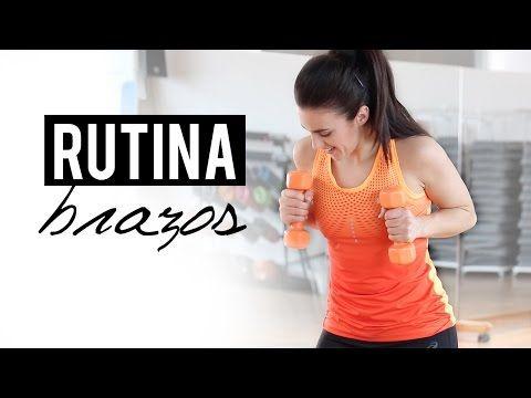 Tonificar y reducir brazos | Ejercicios de cardio con mancuernas - YouTube