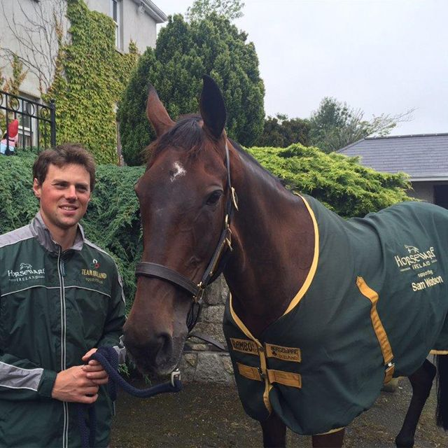 We stopped by #teamhorseware rider Sam Watson's yard earlier this week. He and Horseware Lukeswell are looking ready for @aachen2015 in just under a month! #horseware #ireland #rugsforlife #aachen #eventing #equestrianlife