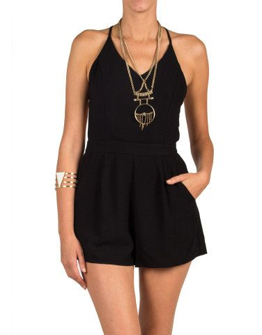 Lush Clothing - Solid Cross Back Romper | 2020AVE, How would you style this? http://keep.com/lush-clothing-solid-cross-back-romper-2020ave-by-asmarkham/k/zu-gCsABGx/