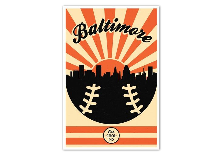 """Baltimore orioles vintage baseball #poster - 24"""" x 36"""" #matte #paper print,  View more on the LINK: http://www.zeppy.io/product/gb/2/172252335800/"""
