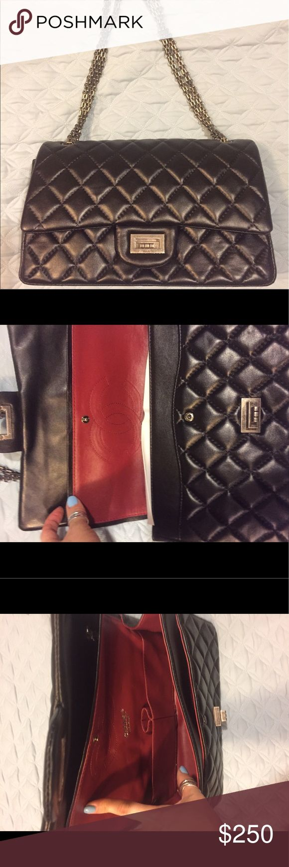 Chanel double flap bag.  Brand new Never used. Very clean Bags Shoulder Bags
