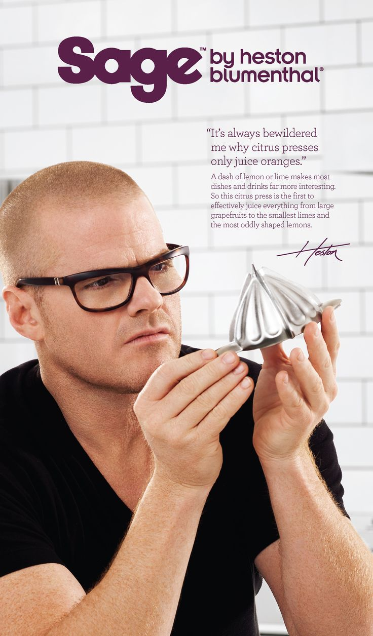 Heston explains the science behind the Citrus Press