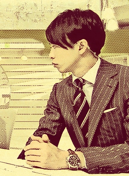 Sakurai Sho at ZERO on Feb 20. Processed by befunky.