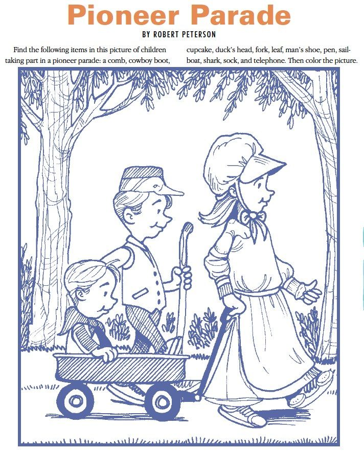 Pioneer I Spy Coloring Page