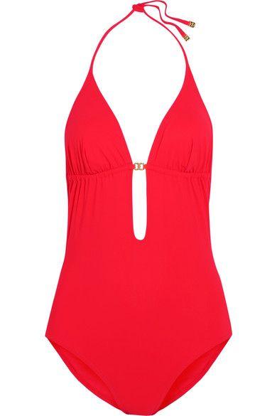 Tory Burch - Gemini Cutout Swimsuit - Red - x small