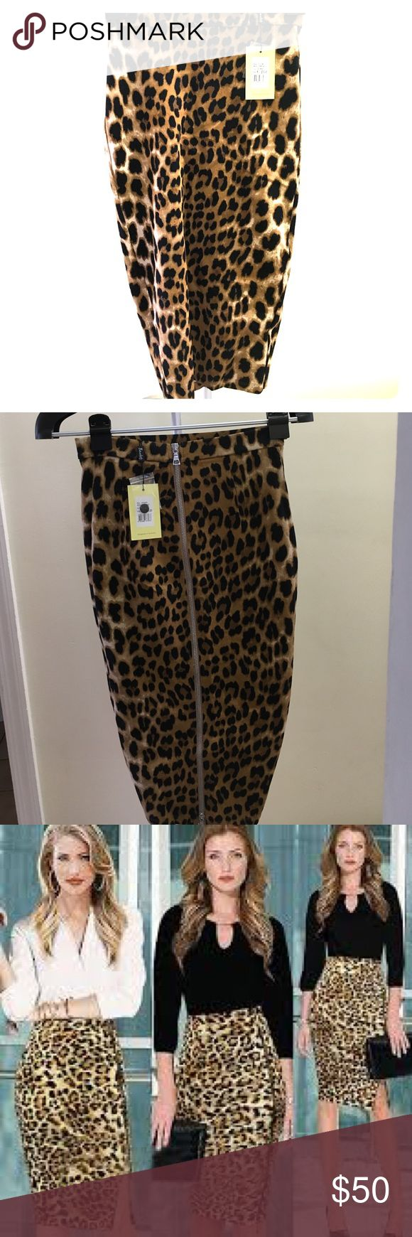 Cheetah skirt This is a very cute skirt that goes with any color its brand new has tags and will be taking offers Bardot  Skirts High Low