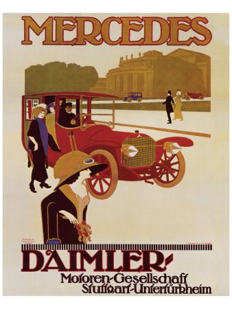 Mercedes - old advertising. For interesting news and driving tips visit: http://www.myimprov.com/blog/