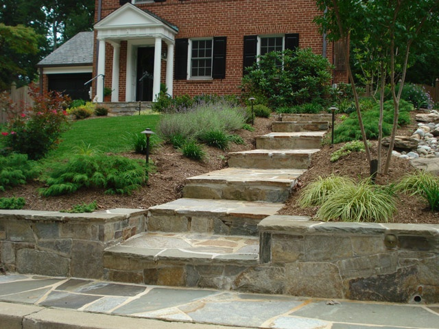 36 best images about paving stones on pinterest front for Landscaping front steps