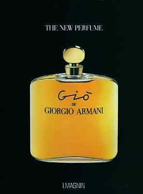Gio de Giorgio Armani Perfume Ad 1993 Bottle Graphics