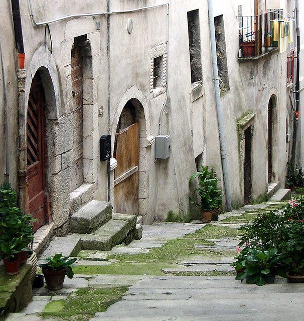 a street in Popoli, Pescara, Abruzzi, Italy