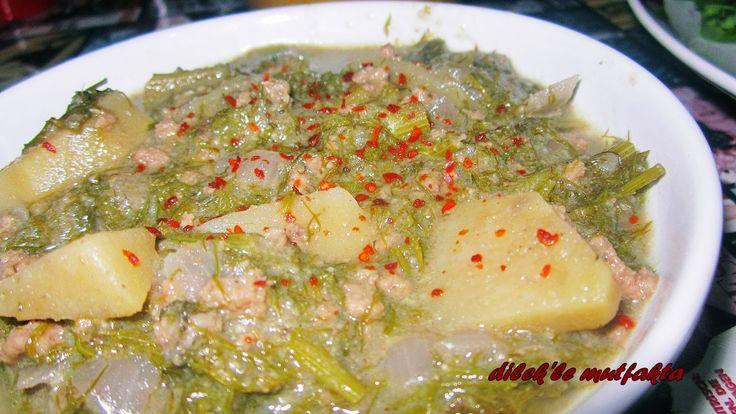 Dilek'le Mutfakta: Kıymalı Arap Saçı ( Rezene ) Yemeği