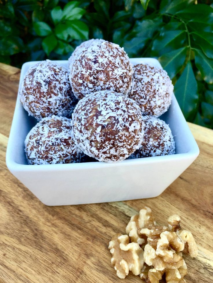 Here's an indulgent brownie style treat that's packed with healthy ingredients. Keep these Coconut Brownie Balls in the fridge for a fast snack.
