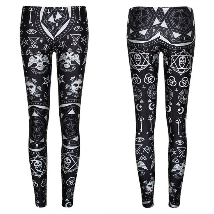 Punk Goth Rock Skinny Leggings You will look amazing when you put on a pair of…