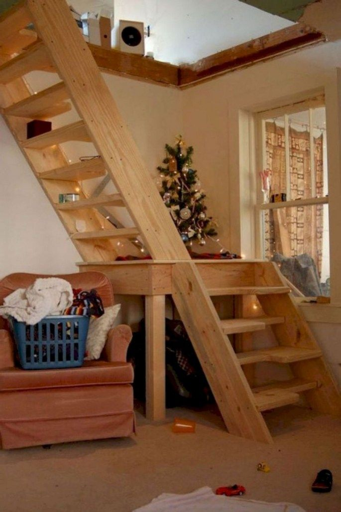 65 Stunning Loft Stair For Tiny House Ideas In 2020 Loft Staircase Attic Ladder Loft Ladder