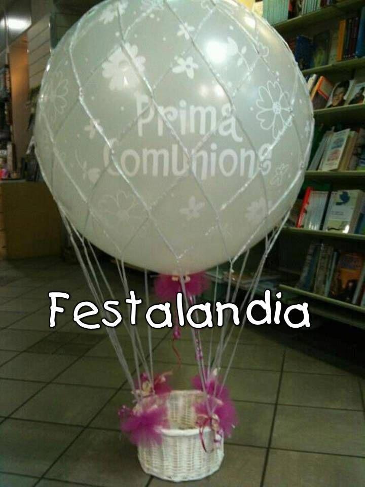 pallone mongolfiera con cesto portabomboniere
