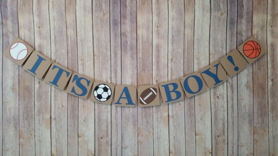 It's A Boy Banner Sports Themed It's A Boy Banner by HappyBanners