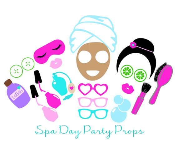 20pc Spa Party Photo Booth Props Digital By Thepartygirlstudio The
